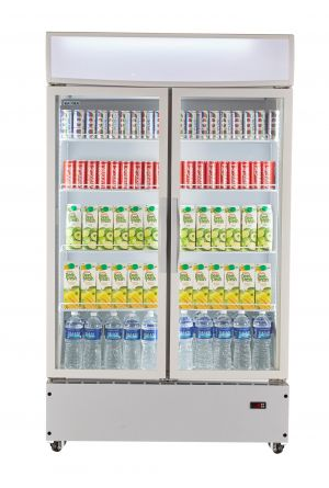 Upright-Beverage-Chiller-2-Doors-Front-facing-door-close-1